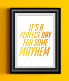 """Overwatch Poster Junkrat It's A Perfect Day For Some Mayhem 