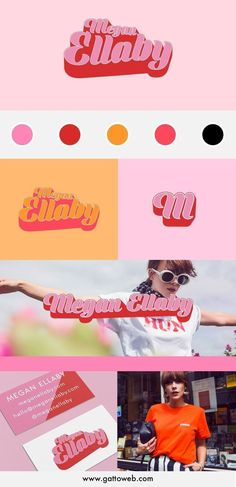 Megan Ellaby Branding Project Retro branding design Logo collateral submark Gatto Branding and Website Design Logo Inspiration, Mood Board Inspiration, Fitness Inspiration, Design Websites, Typography Logo, Logo Branding, Branding Website, Branding Ideas, Branding Agency