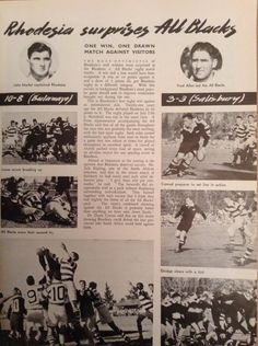 Rhodesia versus the All Blacks Zimbabwe History, All Blacks, Those Were The Days, All Nature, Present Day, Best Memories, Rugby, Growing Up, South Africa