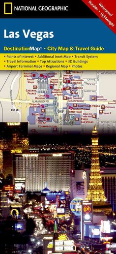 National Geographic Destination City Map Las Vegas: Waterproof, Durable, and Lightweight