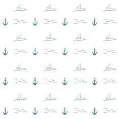 Anchor and Sailing boat /// FREE printable wrapping papers