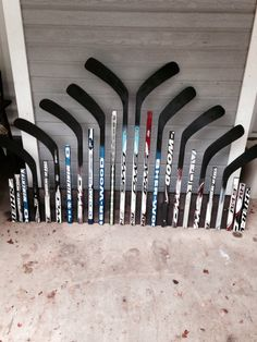 Hockey stick headboard - I would actually build this behind my bar in my house
