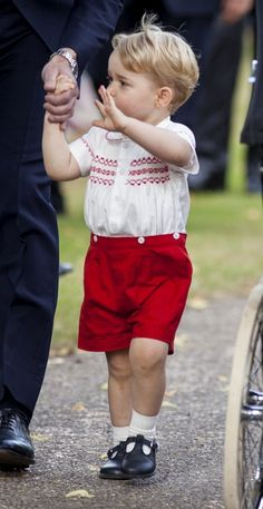 Prince George Photos: Royals Celebrate the Christening of Princess Charlotte
