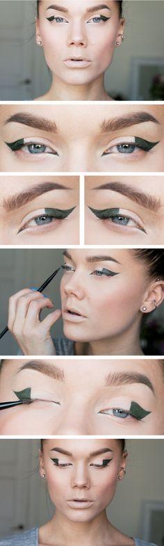 Mon.Sep.30/13, LINDA HALLBERG : TODAYS LOOK - KAXIG EYELINER. I've used ... EYES: Core cosmetics Gel eyeliner green, MUS Cover all mix, No7 Fanomenal lashes mascara. LIPS: (foundation). CHEEKS: MUS Wonder powder Sinai, NARS blush Boys don't cry.