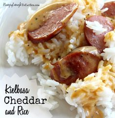 A delicious, savory and cheesy dinner ready in under 30 minutes. This is a favorite go-to for our family on those inevitable evenings when time vanishes and suddenly a speedy dinner is required! The staples of this recipe are easy to keep on hand for just such evenings. Jasmine rice cooks up in only fifteen minutes. Packages of kielbasa or smoked sausage freeze very well. Shredded cheese is convenient for so many meals and snacks.