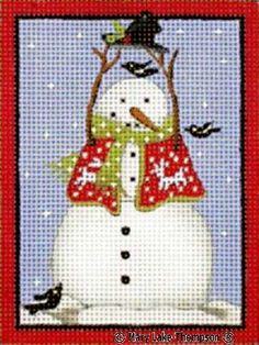 Melissa Shirley Designs | Hand Painted Needlepoint | Snowman/Hat © Mary Lake Thompson