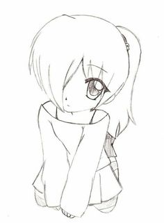 Picture result for nice simple anime drawings , Chibi Girl Drawings, Anime Drawings Sketches, Anime Sketch, Kawaii Drawings, Easy Drawings, Cute Drawings Of Girls, Simple Cute Drawings, Pencil Drawings, Body Sketches