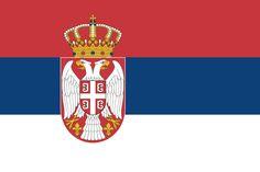 Bandera de la República de Serbia.