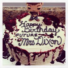 The Walking Dead cake - My Birthday is in a few months...just sayin'