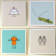 Wire Sculpture Greeting Cards