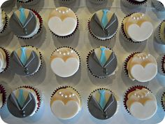 Bride and groom cupcake toppers for a wedding Wedding Cupcakes Fondant Cookies, Fondant Toppers, Cupcake Cookies, Mini Cupcakes, Wedding Cookies, Wedding Cupcakes, Wedding Cake, How To Make Shoes, How To Make Cake
