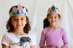 Kids can rule their kingdom with these cool cardboard crowns. #pbscraftsforkids