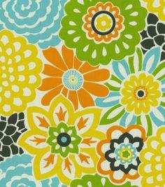 Home Decor Print Fabric-Waverly Button Blooms Confetti, , hi-res