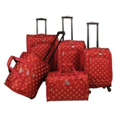 American Flyer Fleur-de-Lis 5-Piece Spinner Luggage Set
