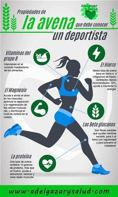 Beneficios de la avena para deportistas. #deporte #avena #infografias