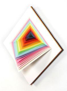 Diy paper sculpture jen stark new ideas Jen Stark, Kirigami, Diy Origami, 3d Paper Crafts, Paper Art, Art Web, Diy Papier, 3d Wall Art, Contemporary Wall Art