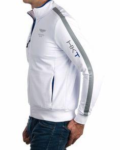 · Blanco· Algodón 95% y elastano 5%· Lavar a máquina a máximo 30ºConfort, estilo y alta calidad son las características con las que siempre se han identificado las sudaderas Hackett Aston Martin. Confeccionadas en blanco, est...