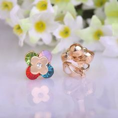 18K Gold Plated Colorful Enamelled Print Dog head Stud Earrings For Women Girls Jewelry Gift