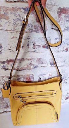 0643d86c2a1 ... bag Yellow Pebble Leather Medium  Tignanello  ShoulderBag. Daci Baci ·  ACCESORIES · Ed Hardy True Love Handbag XL Purse Bowling Weekender Overnight  ...