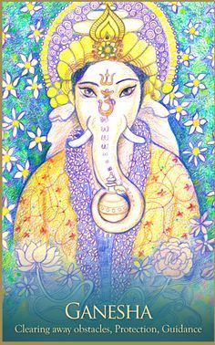 Ganesha, from the Gaia Oracle Card deck, by Toni Carmine Salerno