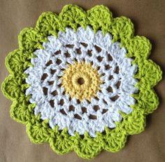 #320 Moon Flower Dishcloth – Maggie Weldon Maggies Crochet