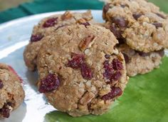 Whole Grain Vegan Baking Cherry Pecan Cookies