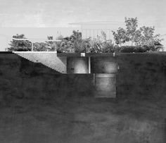Tara House | Studio Mumbai | Beneath the courtyard lies a secret room filled with water from a subterranean aquifer. Light diminishes as one descends the stairs through a stone corridor, intensifying a sense of passage into the earth. The pool has a comforting silence, as water enters the building without ripples or sound. The subterranean room is a refuge from the hot Indian sun, piercing the ground through circular air holes casting shafts of light across the stone walls into water.