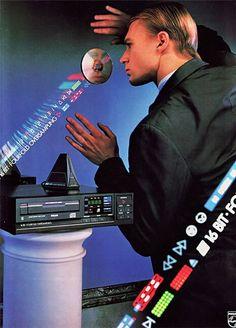 Philips advertentie voor de eerste CD-spelers begin jaren 80.