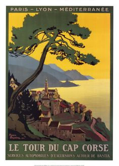 Tour du Cap Corse Reproduction d'art