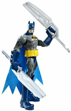 "Batman Power Attack Mission Twin Blades Batman Figure by Mattel. $16.98. Collect all of your favorite Batman Power Attack figures. Batman is ready for any mission, whatever the objective. Battle it out with super cool weapons. Includes 1 figure and accessory. Kids will love creating new adventures with Batman. From the Manufacturer                Batman Power Attack Basic Figure Collection: Batman is never one to shy away from a mission, whatever the objective. These 6"" figures..."