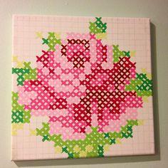 Cross stitch painting