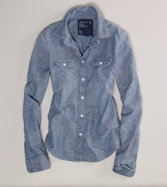 AE chambray western shirt - american eagle