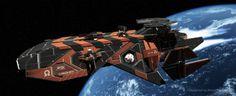 Space Frigate by TuranicRaider.deviantart.com on @deviantART