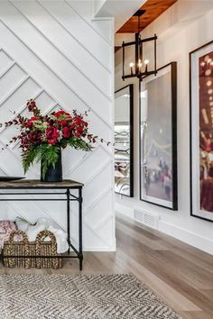 A beautiful entry way inside this transitional home. Wall details play like artwork home entryway, dramatic home foyer, dramatic front entrance, dramatic front entryway, custom Modern House Design, Modern Interior Design, Home Design, Design Ideas, Wall Design, Modern Decor, Contemporary Decor, Design Bedroom, Luxury Interior