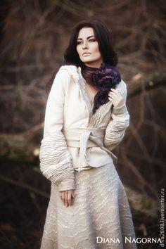 Felt ~ by Diana Nagorna Space Girl, Nuno Felting, Fashion Fabric, Wool Felt, Diana, Women Wear, My Style, Womens Fashion, How To Wear