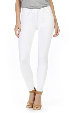 PAIGE PAIGE Hoxton High Waist Ankle Skinny Jeans (Optic White) available at #Nordstrom