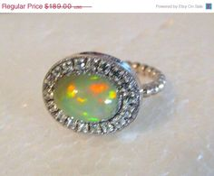 HOLIDAY SALE Amazing fire Opal sterling by YaronaJewelryDesign