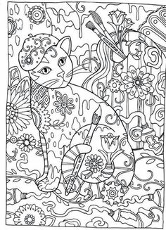 Creative Haven Cats Dover Publications Coloring Mas