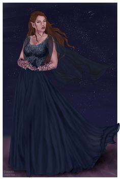 High Lady of the Night Court : Feyre Archeron art by tehnininess on tumblr