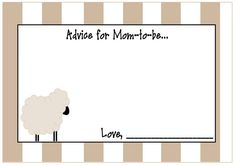 ABOUT THIS LISTING  This listing is for a PRINT IT YOURSELF additional Information card that matches the Baby Sheep invitation in a high
