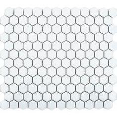 White Hexagon Gloss Tiles