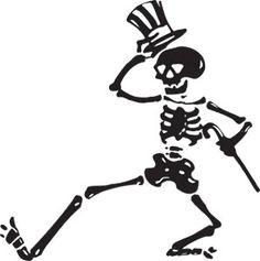 Grateful Dead dancing skeleton by Zooomabooma, via Flickr