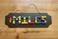 Perfect for a LEGO room or any kid's bedroom. Made with real LEGO bricks an… Perfect for a LEGO room or any kid's bedroom. Diy Crafts For Bedroom, Boys Bedroom Decor, Boys Lego Bedroom, Bedroom Furniture, Bedroom Ideas, Rustic Bedrooms, Minecraft Bedroom, Trendy Bedroom, Wood Furniture