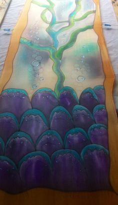 """Colección """" Semilla"""". Mi taller de seda Nathalie Rousselet. Varias técnicas."""