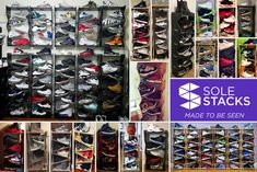 Sole Stacks was founded out of a love of shoes and a need to create a better alternative for shoe storage and display. We're a two man team made of myself, with a background in footwear design, and my partner Demont Campbell, with a background in architecture. The shoe displays