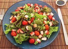 Salada de Kani com vinagrete de Shoyo