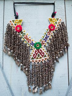 Vintage Kuchi Beaded Necklace with Cloves Gypsy Tribal Belly Dance Uber Kuchi