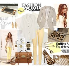"""""""yellow leopard"""" by sasskia on Polyvore"""