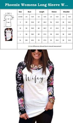 Phoenix Womens Long Sleeve Wifey Round Neck Floral Splice Loose Hoodie Shirt Blouse. Specification: Please check the size chart carefully with your body measurement and then choose your size. Material:50% Cotton Blend, 50% Polyester Spandex . Wifey Print, Flora Splicing Design . Do not blench, Hand Wash Seperately in Cold Water and Dry Clean. We are experienced seller in Amazon,and proffesional to provide the low price with high quality clothes to you,we can solve all the problems for…