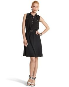 Silk Shirt Dress - White House | Black Market